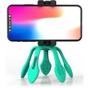 Treppiedi Flessibile con Telecomando Bluetooth Turchese
