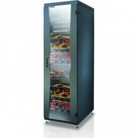 Armadio NetRack 19'' 600x1000 27 Unità Nero Porta Grigliata da Assemblare