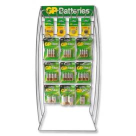 Espositore Stand da Banco in Metallo Batterie GP