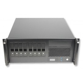 Chassis Industriale Rack 19''/Desktop 4U 8x3.5'' HDD Ultra Compatto Nero