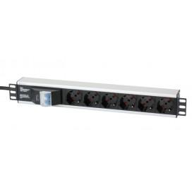 Multipresa per rack 19'' 6 posti con magnetotermico Cavo 3m