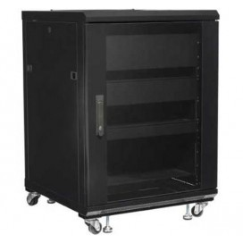 Armadio Rack 19'' 600x600 15U per Audio Video Nero