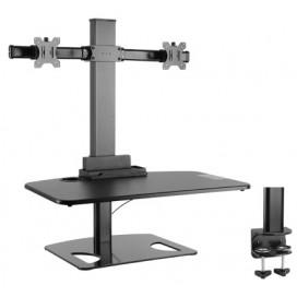 Postazione di lavoro da scrivania per postura seduta/eretta con supporto monitor