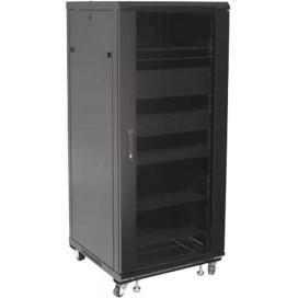Armadio Rack 19'' 600x600 27U per Audio Video Nero