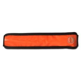Fascia LED riflettente multiuso arancio con gancio in plastica