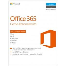 MICROSOFT .OFFICE 365 HOME PREMIUM 1Y ABB. SCRATCH 5 LIC. 6GQ00723