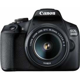 CANON REFLEX 24MP 1080P30 3FPS 3 WIFI NFC EOS2000D1855IS
