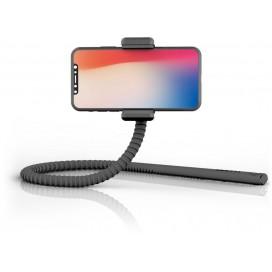 Supporto Smartphone Flessibile Universale Telecomando Bluetooth Nero