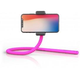 Supporto Smartphone Flessibile Universale Telecomando Bluetooth Rosa