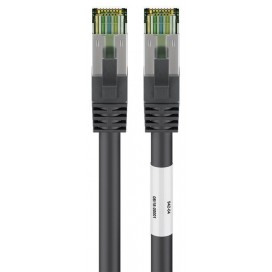 Cavo di rete Patch in rame Cat. 8.1 Nero SFTP LSZH 1m