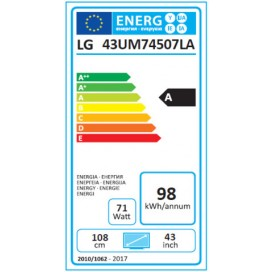LG LED 43 4K 3HDMI 2USB HEVC SMART 43UM7450