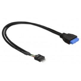 Cavo Interno USB3.0 19 pin Femmina / USB2.0 8 pin Maschio 30cm