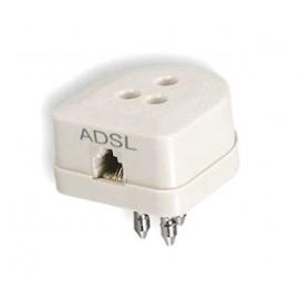 Filtro ADSL su tripolare passante