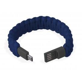 Bracciale Paracord con Micro USB Blu