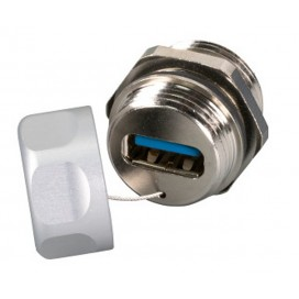 Adattatore Metallico IP67 M20 USB3.0 A/A F/F con Cordino