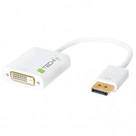 Adattatore DisplayPort 1.2 Maschio / DVI Femmina 15cm Bianco