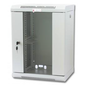 Armadio Rack 10'' a muro 9 unità con pannelli asportabili Grigio