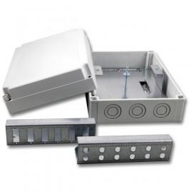 Box ottico in plastica IP66 da muro con staffa interna per 24 fibre