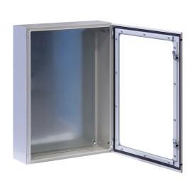 Armadio Rack 19'' a muro 17U grigio IP65 porta vetro prof. 200mm