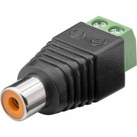 Adattatore Terminal Block 2-pin a RCA femmina