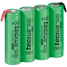 Batterie ricaricabili NiMH 4xAA HR6 2100 mAh 4.8V a saldare