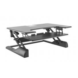 Postazione di lavoro da scrivania per postura seduta/eretta