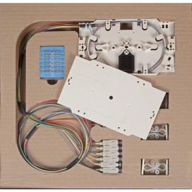 Cassetta di giunzione con 12 Pigtail SC multimodali OM4