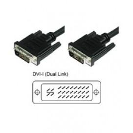 Cavo Monitor DVI Analogico digitale  M/M Dual Link 10 mt (DVI-I)