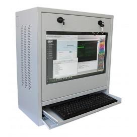 Armadio di sicurezza per PC, monitor LCD e tastiera Grigio