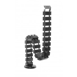 Guaina raccoglicavi flessibile nera lunghezza 1300 m
