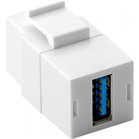 Adattatore Keystone 2x USB 3.0 A Femmina Bianco