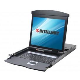 Console KVM Switch 16 Porte USB/PS2 con LCD 17'' da Rack 19''