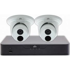 Kit Videosicurezza 2 Telecamere IP DOME 2MP e Videoregistratore NVR 4 canali