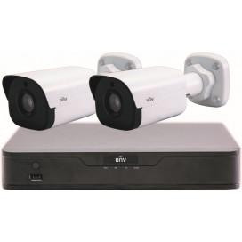 Kit Videosicurezza 2 Telecamere IP Bullet 2MP e Videoregistratore NVR 4 canali