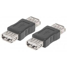 Adattatore USB 2.0 A femmina/A femmina nero