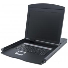 Console KVM Switch 16 porte USB/PS2 con LCD 19'' da Rack 19''