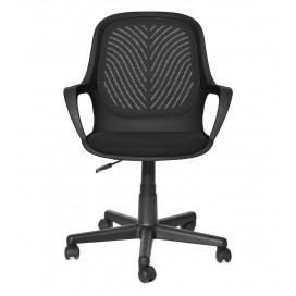 Sedia per Ufficio con Schienale Basso Nero