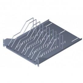 Mensola per armadi rack 19'' con 9 alloggiamenti per Tablet Notebook