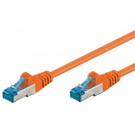 Cavo di rete Patch in rame Cat. 6A Arancione SFTP LSZH 0,5m