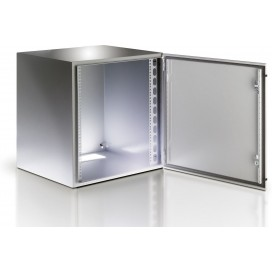 Armadio Rack 19'' a muro 13U grigio IP65 porta vetro