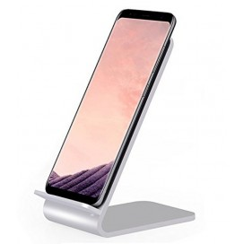 Caricabatterie Wireless Fast Qi Stand Verticale 10W Lega di Alluminio