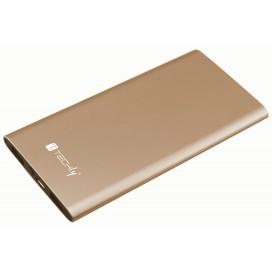 Carica Batterie Power Bank Slim per Smartphone Tablet 5000mAh USB Oro
