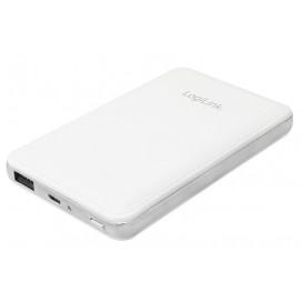 Carica Batterie Power Bank per Smartphone Tablet 8000mAh USB Bianco
