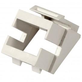 Adattatore Keystone SC/LC Simplex Bianco