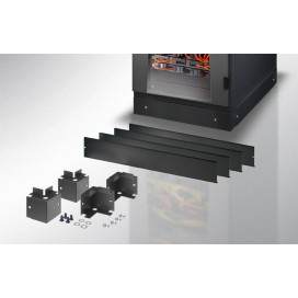 Zoccolo 600 x 600 mm per Armadi Rack Serie EP Nero